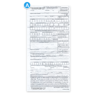 Hand-Written Speeding Ticket